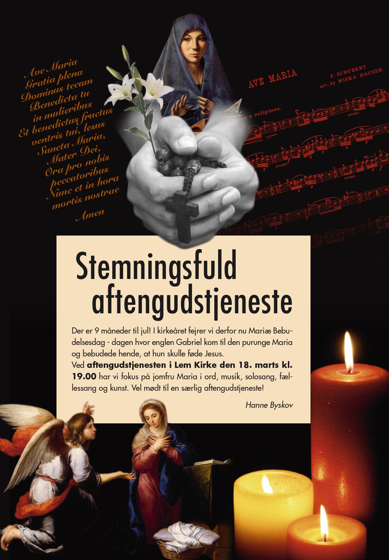 Stemningsfuld aftensgudstjeneste @ Lem Kirke | Lem | Danmark