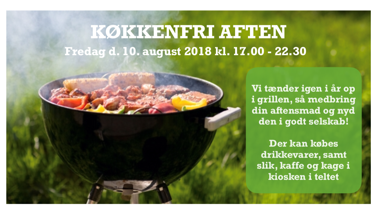 Køkkenfri aften Fredag d.10. august