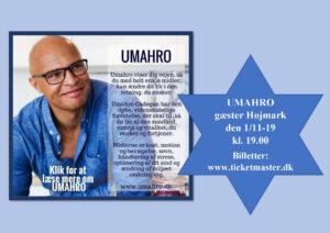 UMAHRO gæster Højmark den 1/11-19 kl. 19.00 @ Højmark Hal og Forsamlingshus