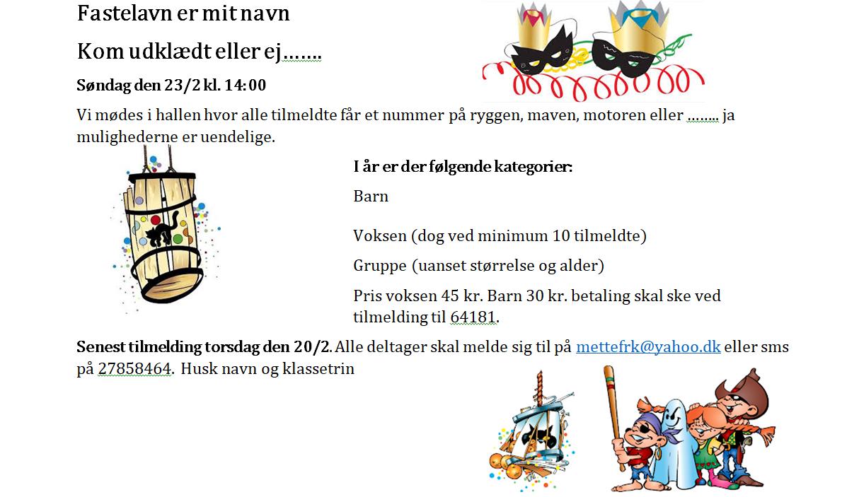 Fastelavn Højmark 2020 @ Højmark Hal og Forsamlingshus