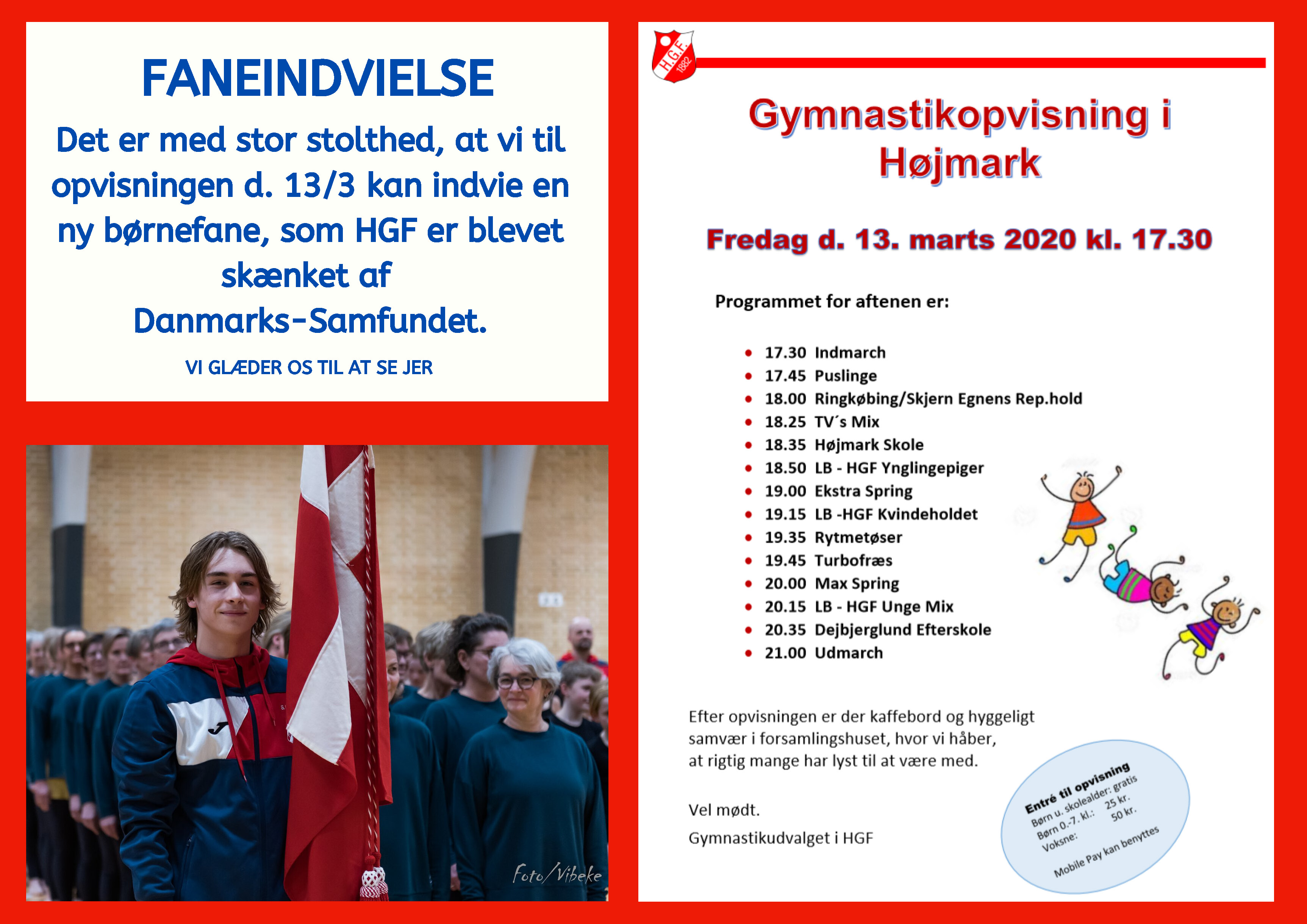 Gymnastikopvisning i Højmark 2020 @ Højmark Hal og Forsamlingshus